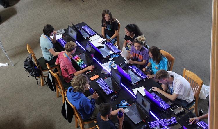 overhead shot of id coding academy