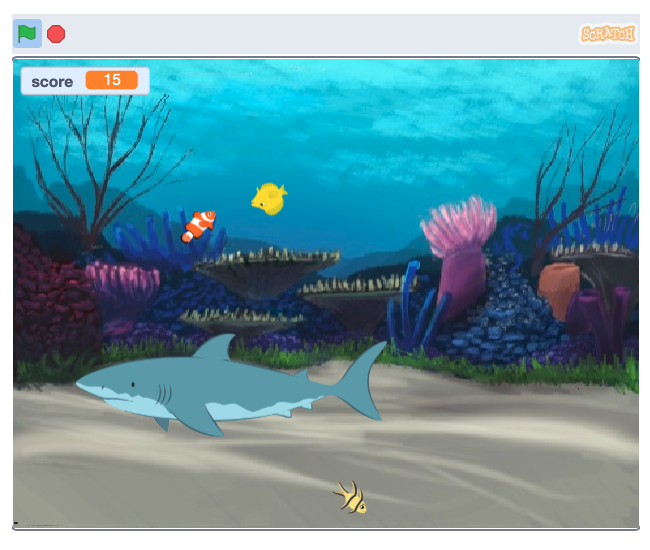 chase game example with sharks and fish