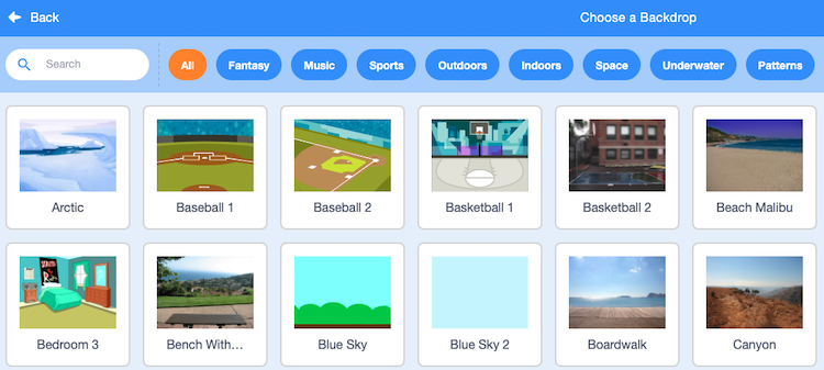 library of scratch backgrounds