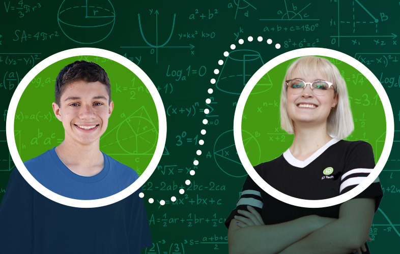 students and tutor in circle crop photos