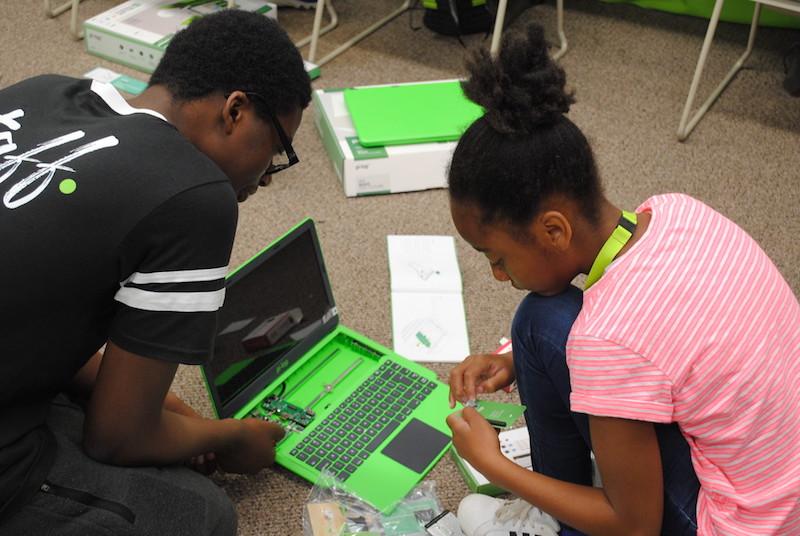 Assembling a laptop computer