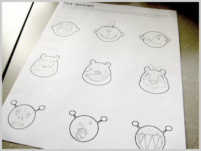 Drawing Faces With Sketches Template