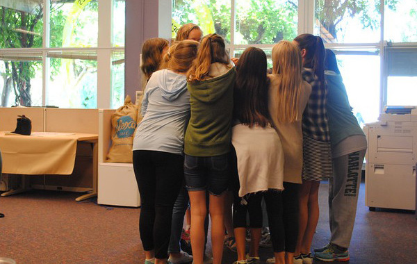 Girls Collaborate at Camp