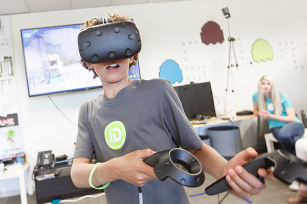Boy Using HTC Vive