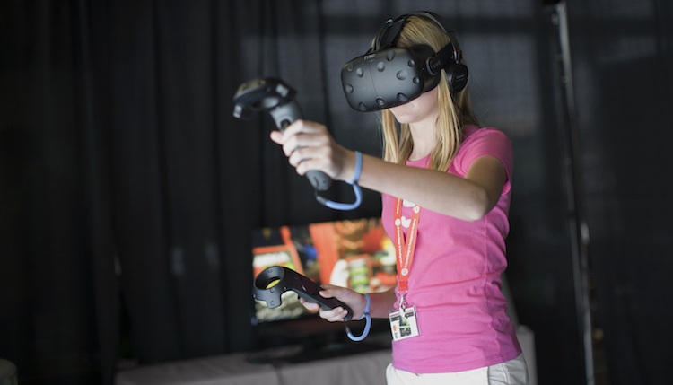 VR Student Playing